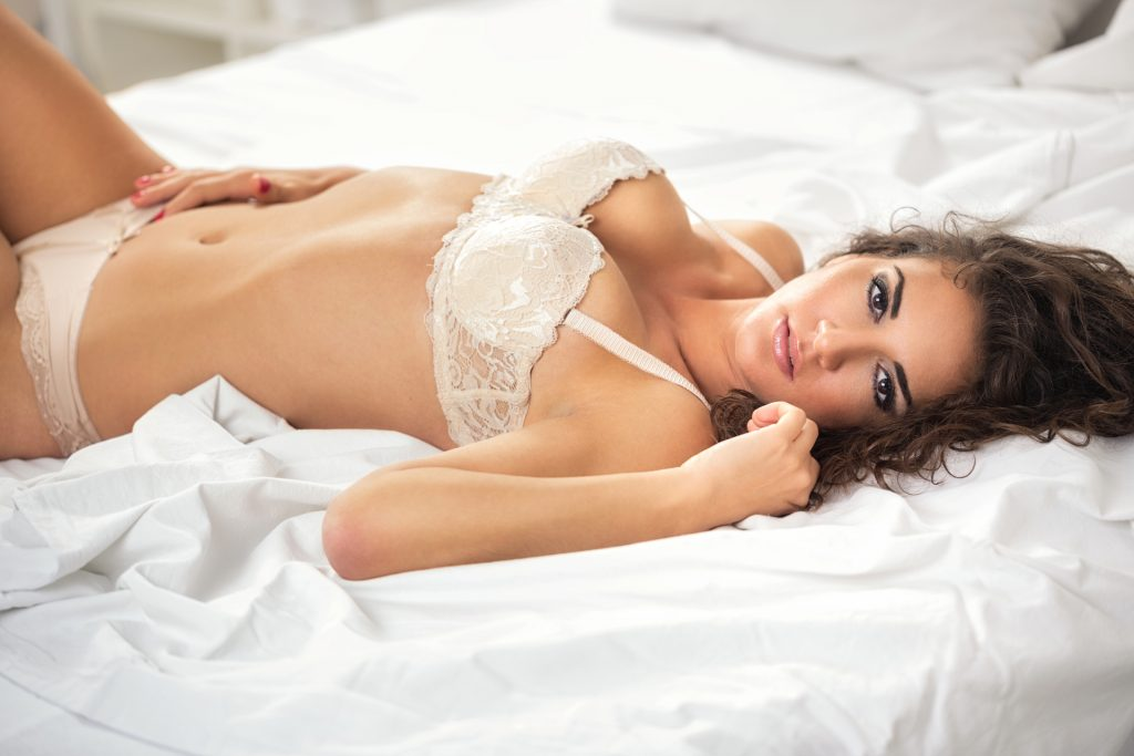 sexy lady on bed